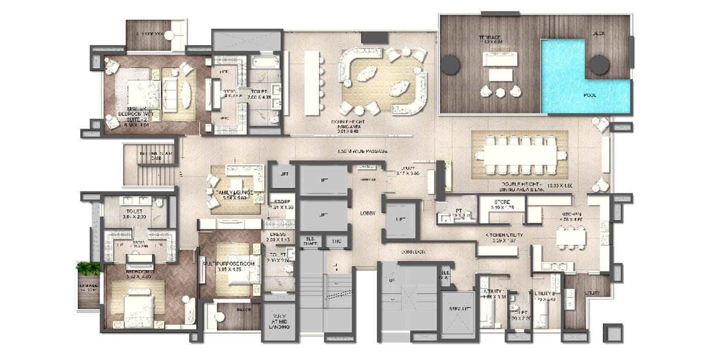 Duplex Lower Level Plan