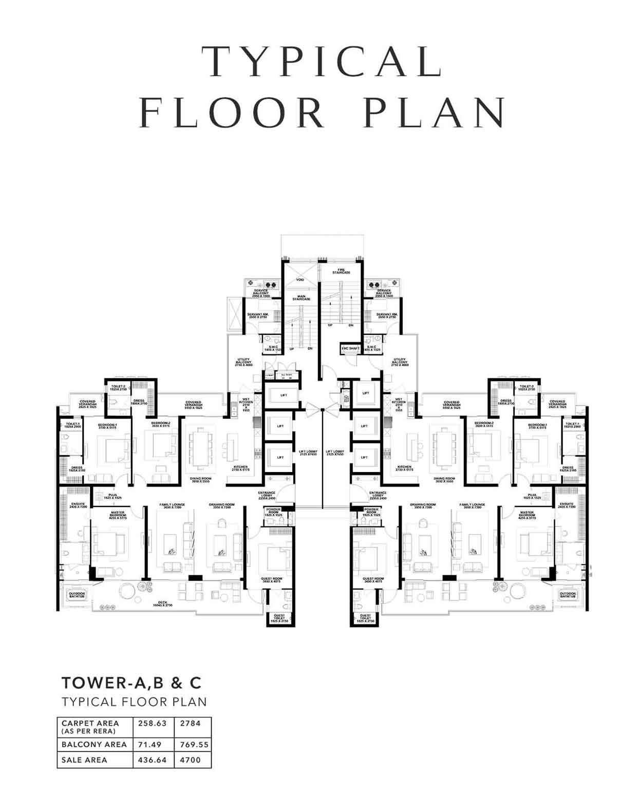 4 BHK Plan