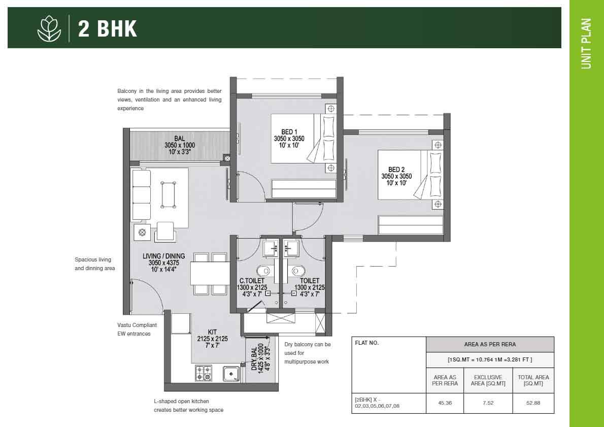 2 BHK Plan